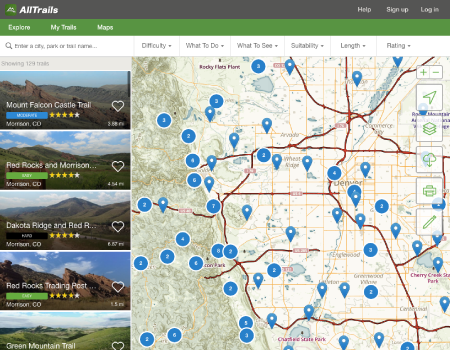 Search 50,000 hiking, camping, trail running, and dog friendly trails