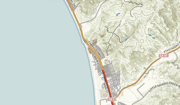 trail locations for Morro Strand State Beach