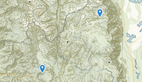 trail locations for Golden Trout Wilderness