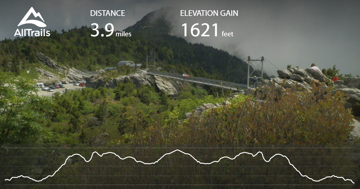 Stone Mountain Nc Elevation Gain : Grandfather mountain trail north carolina alltrails