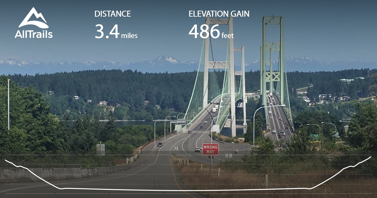 Tacoma Narrows Bridge Washington AllTrailscom - Us tacoma map