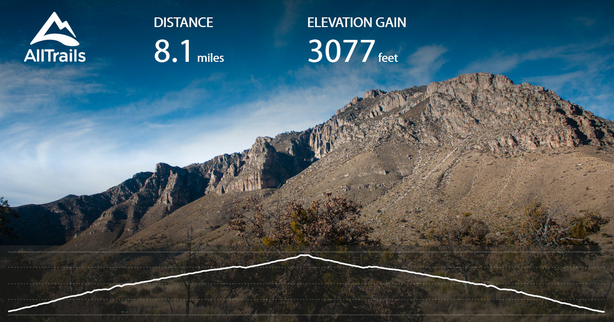Guadalupe Peak Texas Highpoint Trail Texas AllTrailscom - Us highest peaks map