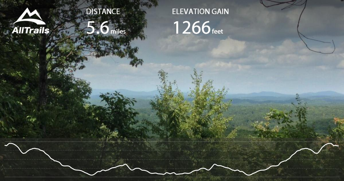 Stone Mountain Nc Elevation Gain : Little mountain falls trail virginia alltrails