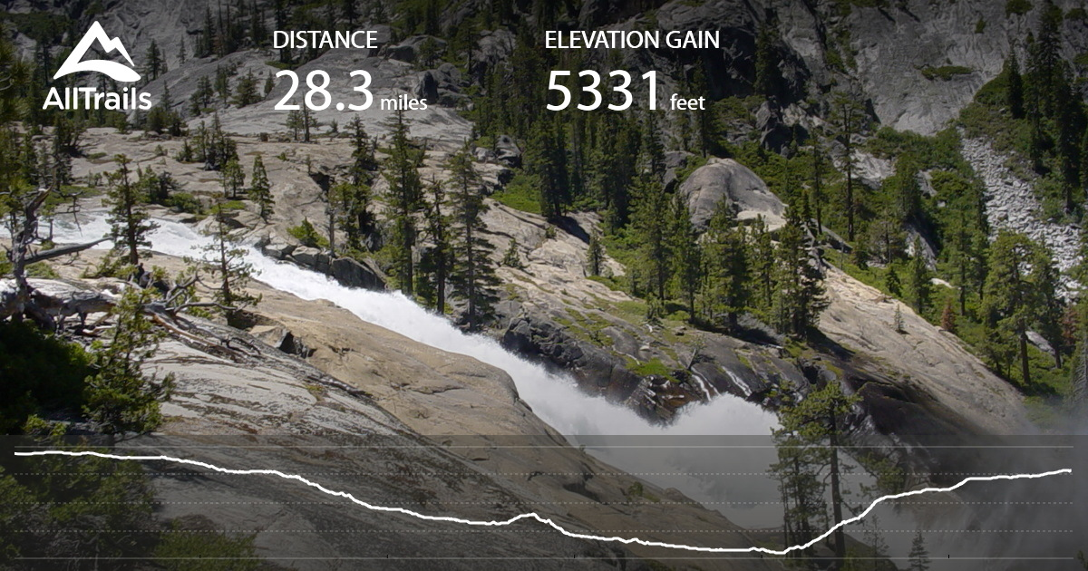 Waterwheel Falls And The Grand Canyon Of The Tuolumne