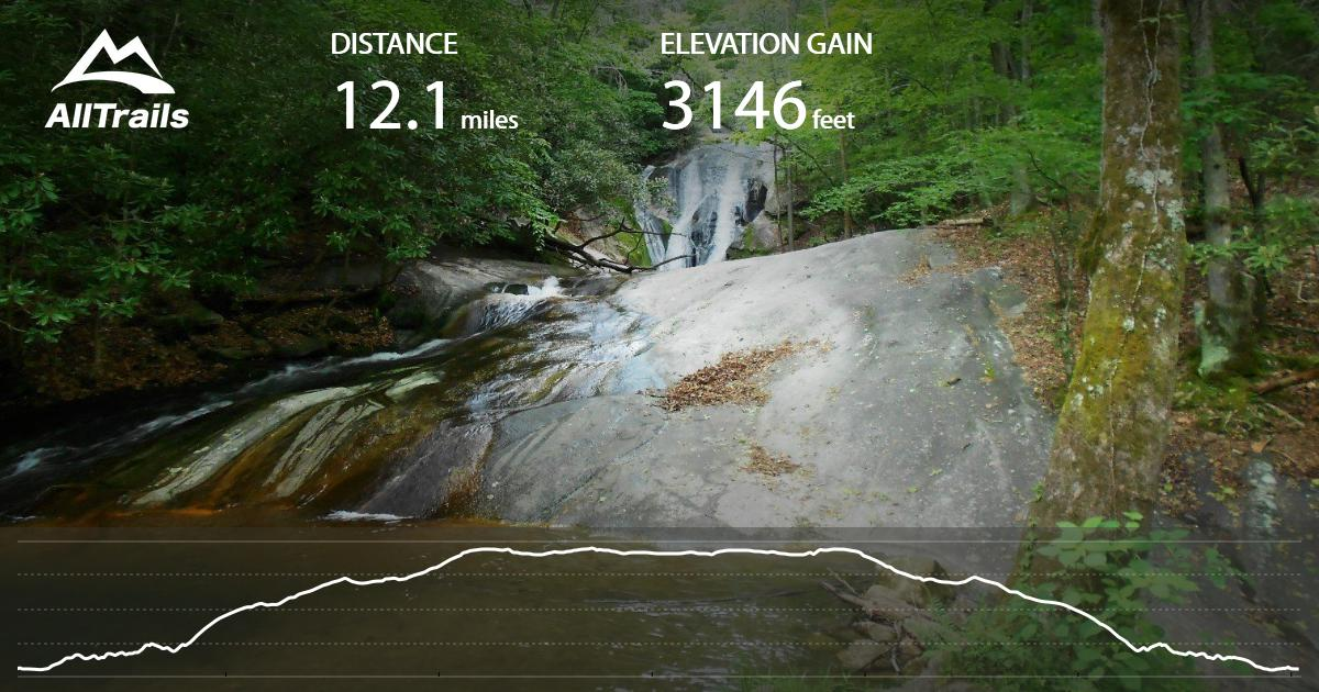 Stone Mountain Nc Elevation Gain : Stone mountain widow s creek to deep gap north