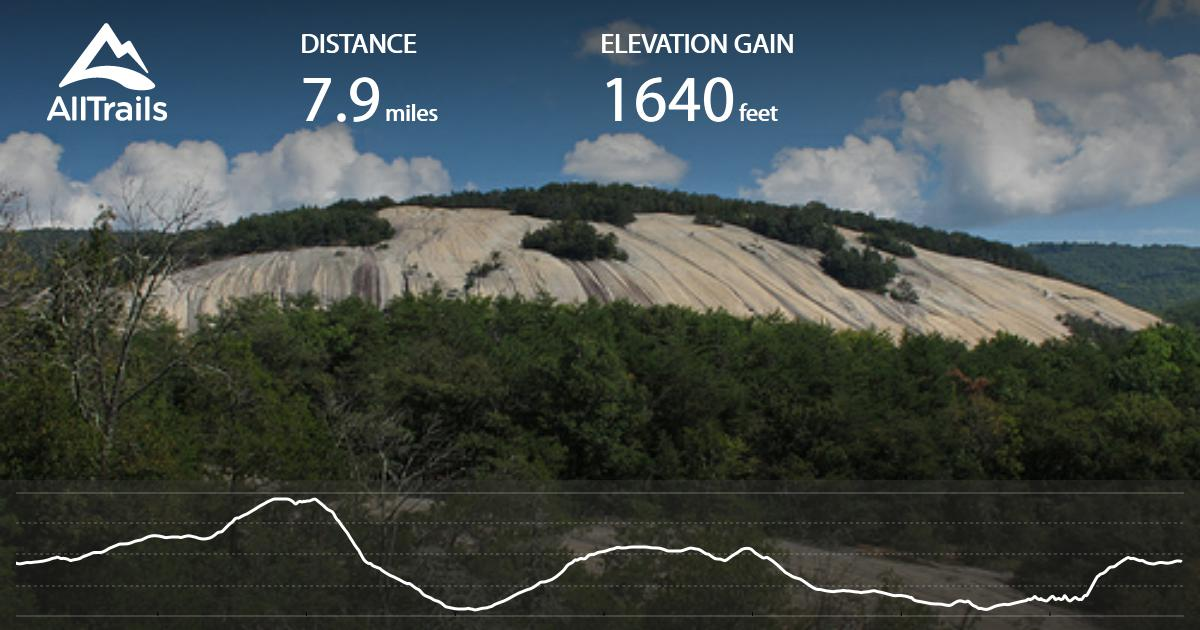 Stone Mountain Nc Elevation Gain : Stone mountain to cedar rock trail loop north carolina