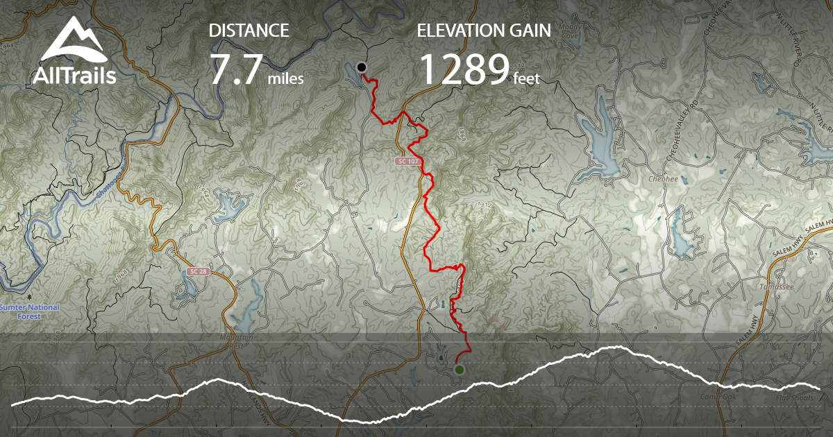 Foothills Trail Oconee State Park To Nicholson Ford Rd