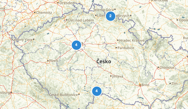 trail locations for Czech Republic