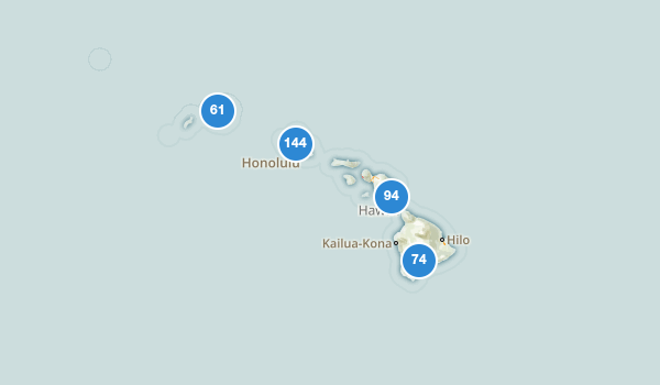trail locations for Hawaii