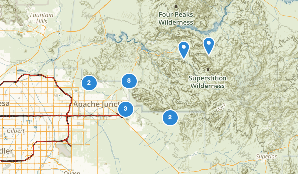 trail locations for Apache Junction, Arizona