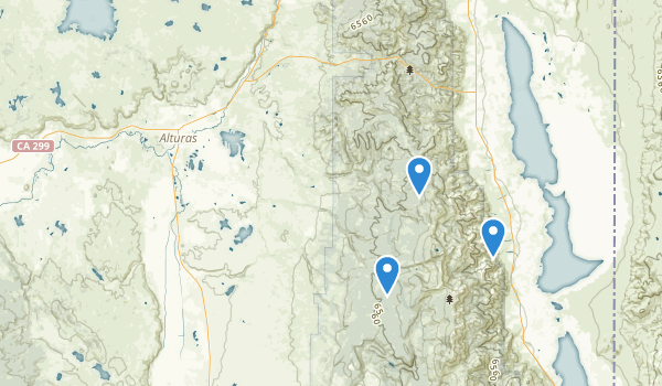 trail locations for Alturas, California