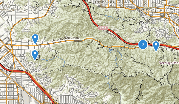 trail locations for Sun Valley, California