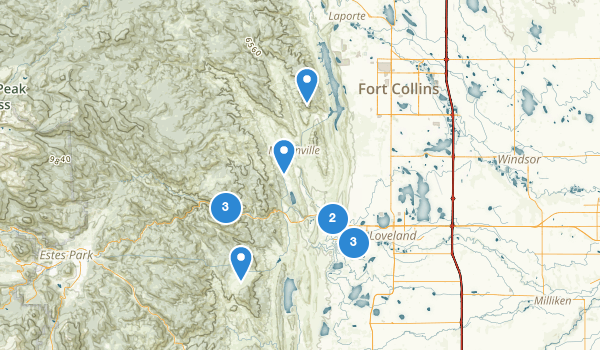 trail locations for Loveland, Colorado