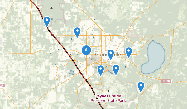 trail locations for Gainesville, Florida