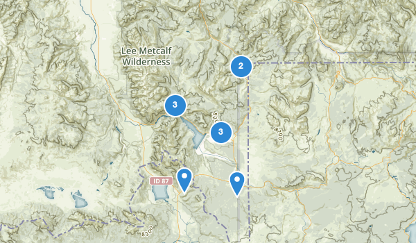 trail locations for West Yellowstone, Montana