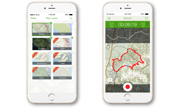 Download the iPhone or Android app and follow along on the trail