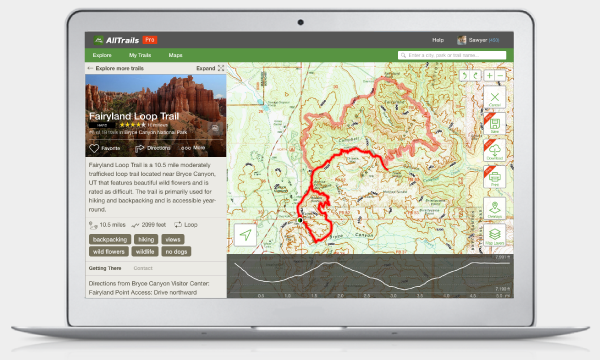 Upgrade to AllTrails Pro to create custom maps and download them to your phone