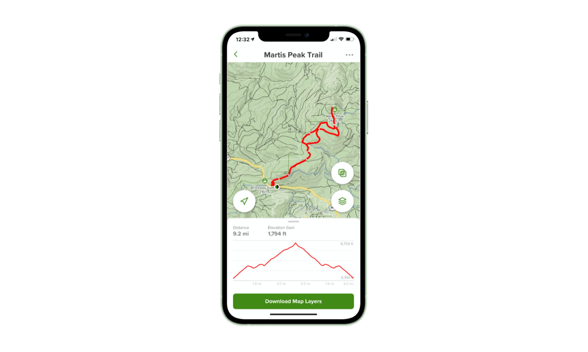 Download AllTrails to create custom maps and download them to your phone