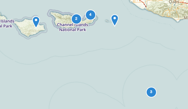 trail locations for Channel Islands National Park