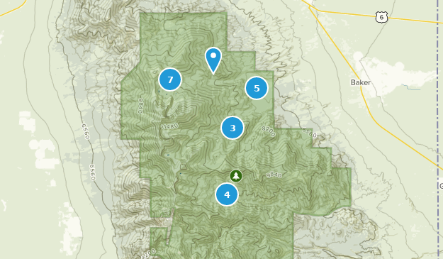 Best Trails In Great Basin National Park Alltrails - Great-basin-on-us-map
