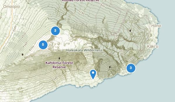 trail locations for Haleakala National Park