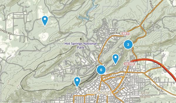 Hot Springs National Park Map