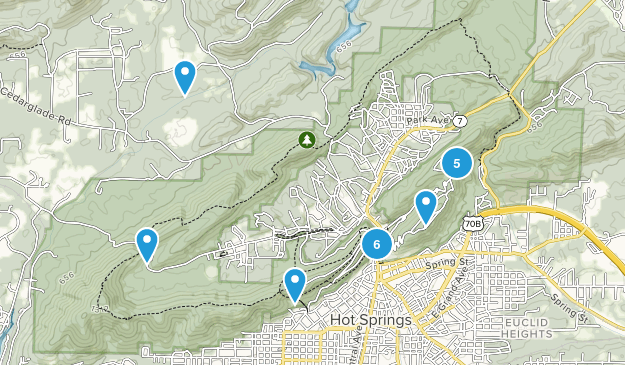 Hot Springs National Park Map