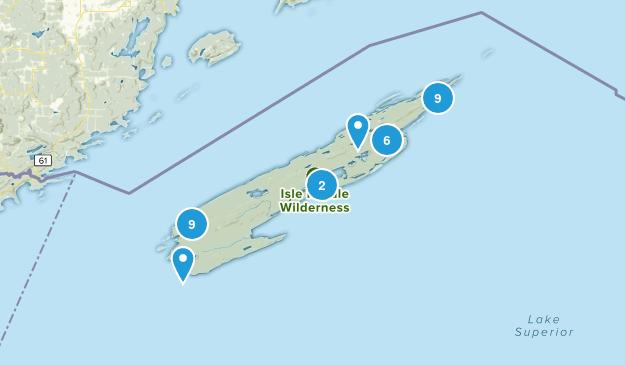 Isle Royale National Park Map