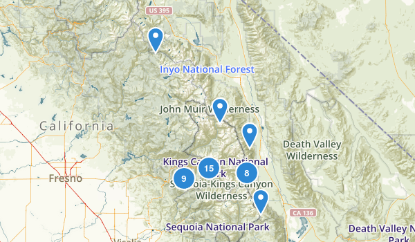 Kings Canyon National Park Map