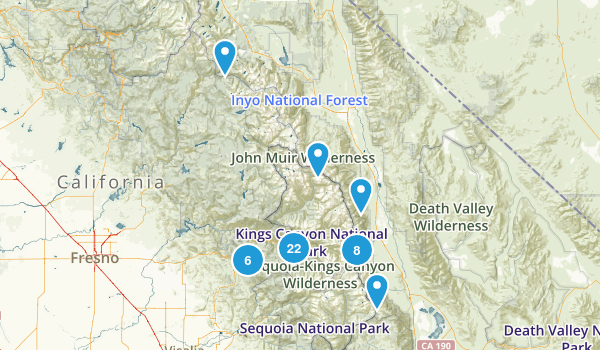 Kings Canyon National Park Map