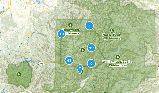 Parque Nacional Monte Rainier Map