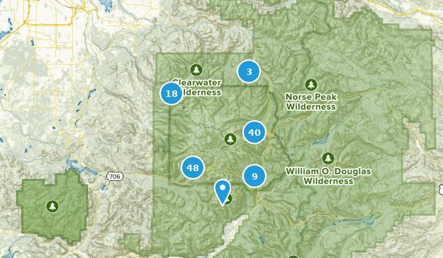 Mount Rainier Nationalpark Map