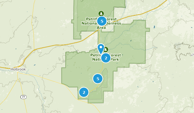Map Of Arizona With National Parks.Best Trails In Petrified Forest National Park Alltrails