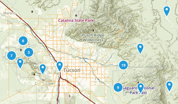 Saguaro National Park Map