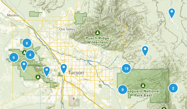 Saguaro National Park Map