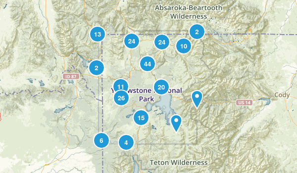 Best Trails In Yellowstone National Park Photos - Yellowstone map us