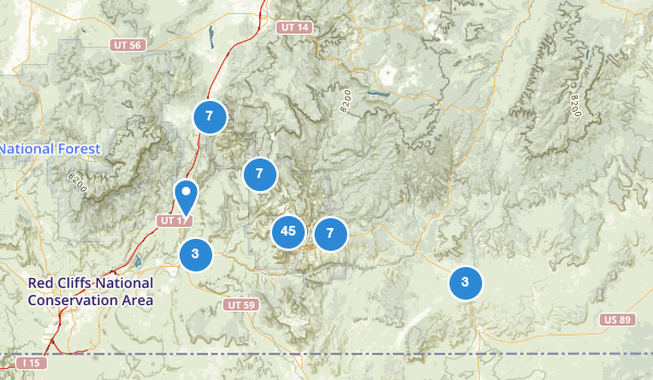 trail locations for Zion National Park
