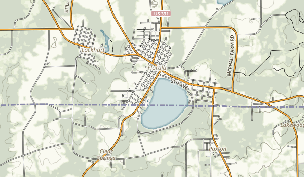 Florala State Park Map