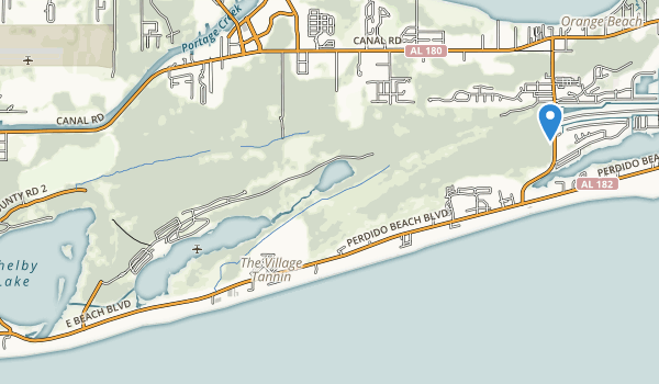 trail locations for Gulf State Park