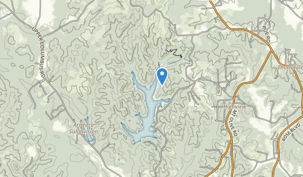 Lake Lurleen State Park Map