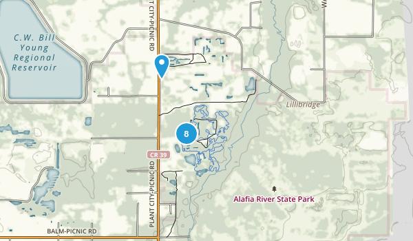Alafia River State Park Map