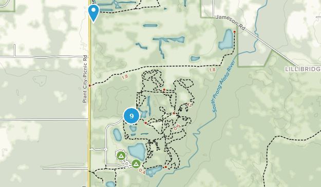 Parque Estatal Alafia River Map