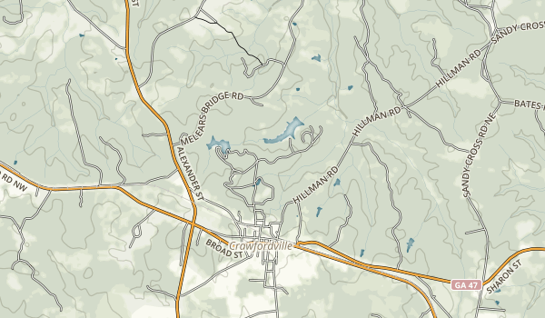 A.H. Stephens Historic Park Map