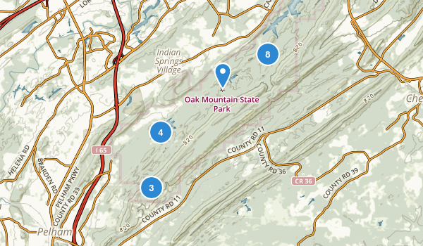 Oak Mountain State Park Map