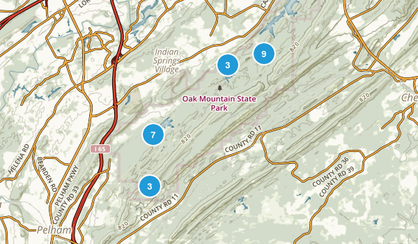 Oak Mountain State Park Map