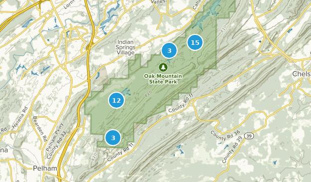 Parque Estatal Oak Mountain Map