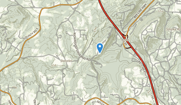 trail locations for Rickwood Caverns