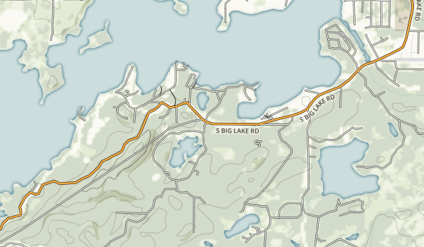 Big Lake South State Recreation Site Map