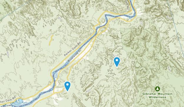 Buckskin Mountain State Park Map