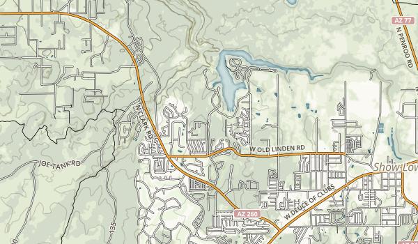 Fool Hollow Lake Recreation Area Map
